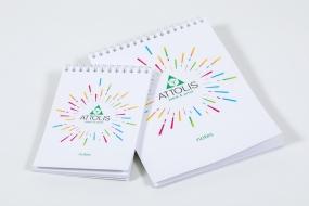Полиграфия в типографии «ATTOLIS»: Блокноты