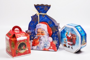 новогодние подарочные картонные коробки